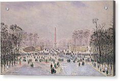 Skating In The Tuileries Acrylic Print by Theodore Jung