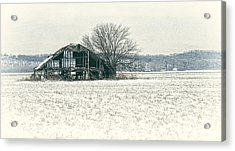 Skeleton Barn Acrylic Print