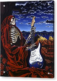 Skeleton Dream Acrylic Print by Gary Kroman