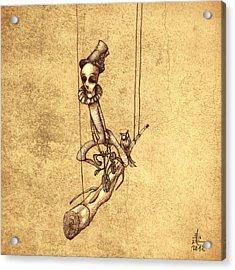 Skeleton On Cycle Acrylic Print