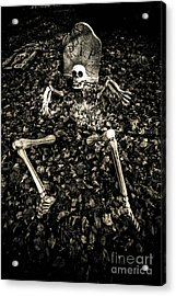 Skeleton Rising From The Dead Acrylic Print by Amy Cicconi