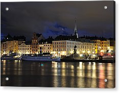 Skeppsbron At Night Acrylic Print