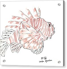 Sketch Of Lion Fish At London Aquarium Acrylic Print