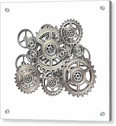 Sketch Of Machinery Acrylic Print by Michal Boubin