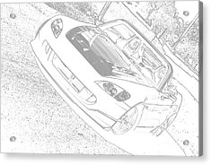 Sketched S2000 Acrylic Print