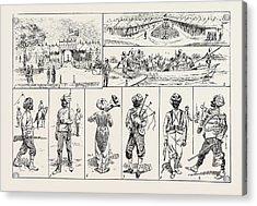 Sketches At The Rawul Pindi Durbar, 1885. 1. Entrance Acrylic Print