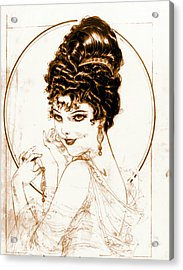 Sketchy Look 1919 Acrylic Print by Padre Art