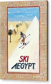 Ski Aegypt Acrylic Print by Richard Deurer