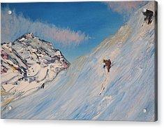 Ski Alaska Heli Ski Acrylic Print by Gregory Allen Page