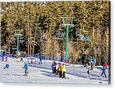Ski Day Acrylic Print by Tammy Espino