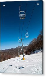 Ski Lift Acrylic Print by Alex Grichenko
