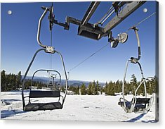 Ski Lifts At Mount Hood In Oreon Acrylic Print