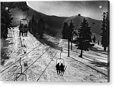 Ski Lifts At Squaw Valley In California Acrylic Print by Underwood Archives