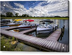Ski Nautique Acrylic Print by Debra and Dave Vanderlaan