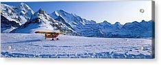 Ski Plane Mannlichen Switzerland Acrylic Print by Panoramic Images