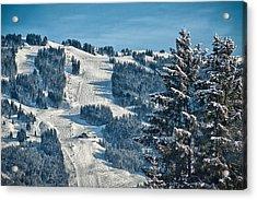 Ski Run Acrylic Print by Chris Boulton