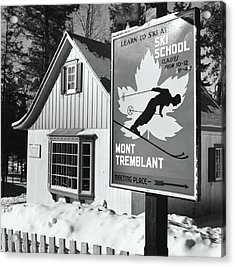 Ski School Sign At Mont Tremblant Ski Resort Acrylic Print