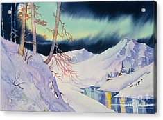 Ski Trail Acrylic Print by Teresa Ascone