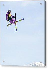 Ski X Acrylic Print by Theresa Tahara