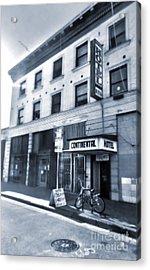 Skid Row Hotel Acrylic Print by Gregory Dyer