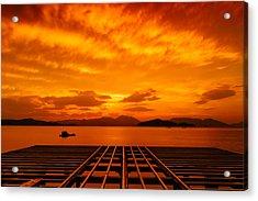 Skies Ablaze - One Acrylic Print