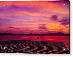 Skies Ablaze - Two Acrylic Print
