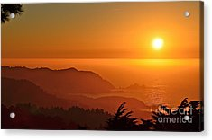 Skies Of Gold At Pedro Point Acrylic Print
