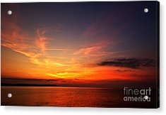 Acrylic Print featuring the photograph Skies On Fire by Baggieoldboy