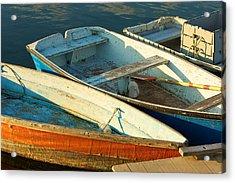 Skiffs Rockport Harbor Acrylic Print by Gail Maloney