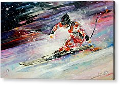 Skiing 01 Acrylic Print