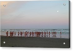 Skinny Dipping Down A Moon Beam Acrylic Print