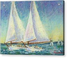 Skip Jack Races Acrylic Print by Bruce Schrader