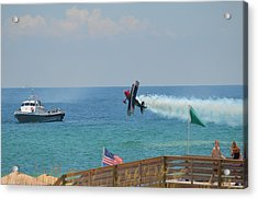 Skip Stewart Extreme Low-level Practice Acrylic Print by Jeff at JSJ Photography