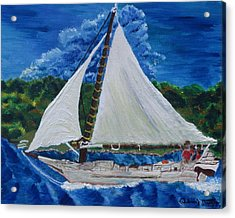 Skipjack Nathan Of Dorchester Acrylic Print by Debbie Nester