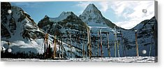 Skis In Snow, Mt Assiniboine, Mt Acrylic Print
