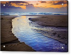 Skiveren Beach Acrylic Print
