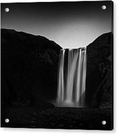 Acrylic Print featuring the photograph Skogafoss by Frodi Brinks