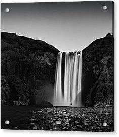 Skogarfoss Acrylic Print by Frodi Brinks