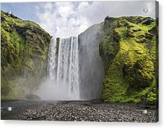 Skogarfoss Waterfall Acrylic Print