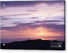 Skomer Sunset Acrylic Print by Anne Gilbert