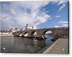 Skopje - Stonebridge Acrylic Print by Ivan Vukelic