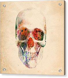 Skull 12 Acrylic Print by Mark Ashkenazi