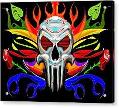 Skull Abstract Acrylic Print by Arpit Handa