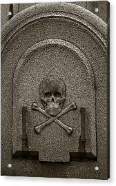 Acrylic Print featuring the photograph Skull And Crossbones by Amarildo Correa