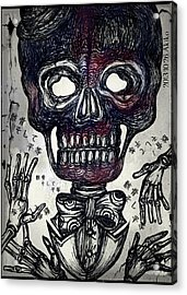 Skull And Equality Acrylic Print by Akiko Okabe