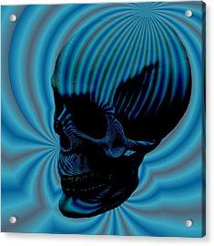 Skull Aura Blue Acrylic Print