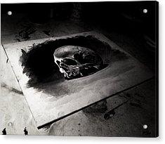 Skull Acrylic Print by Christian Klute