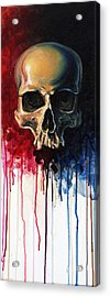 Skull Acrylic Print by David Kraig
