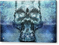 Skull In The Mirror Acrylic Print by Tommytechno Sweden