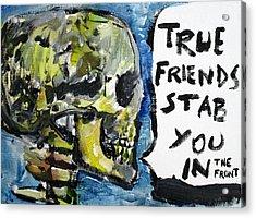 Skull Quoting Oscar Wilde.2 Acrylic Print by Fabrizio Cassetta